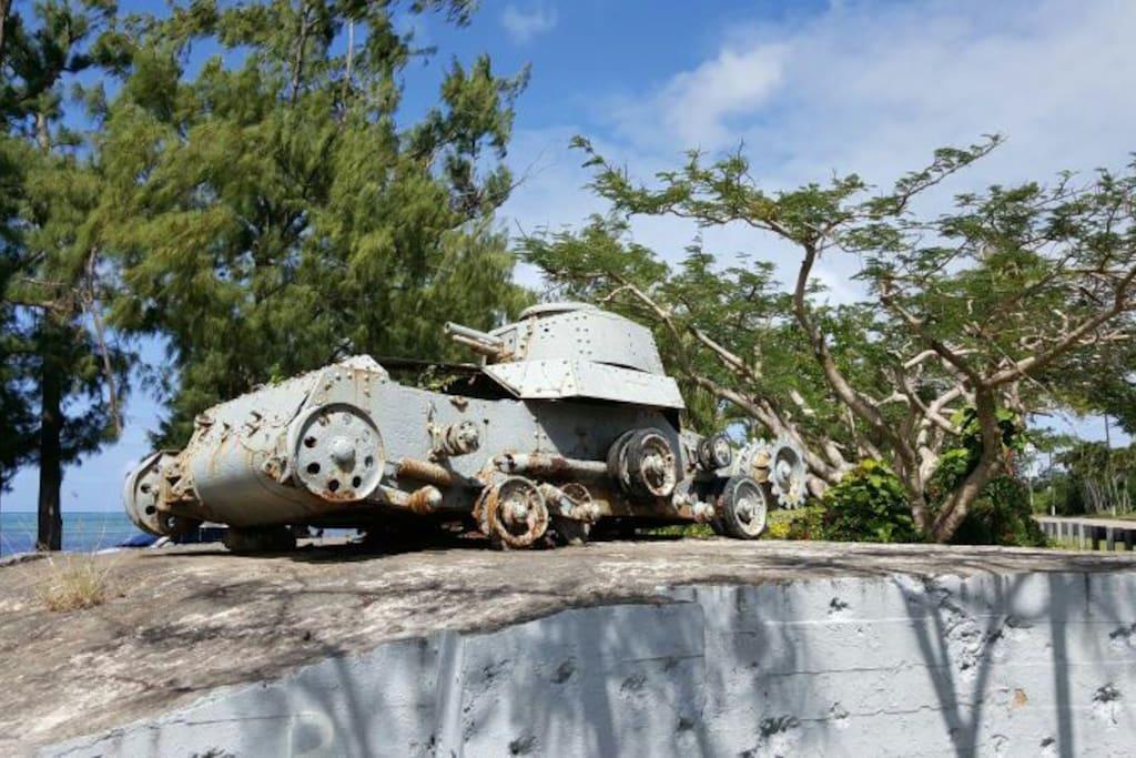 a siteseeing point near Asian Garden 公寓附近一个观光景点,二战坦克
