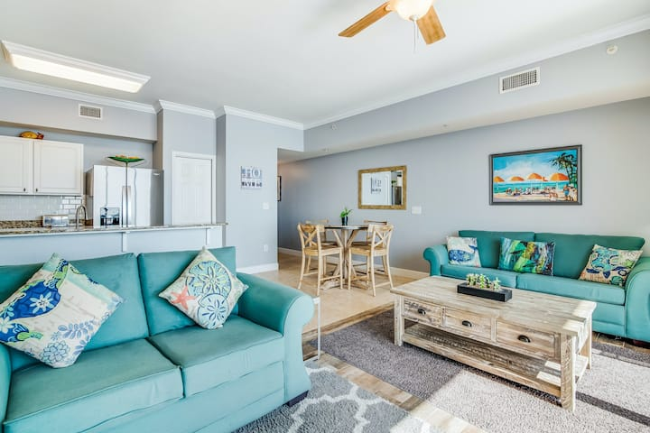 Oceanfront oasis w/ shared pools, hot tubs, beach access, & private balcony!