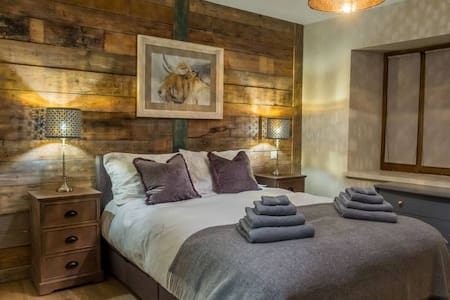 Stunning bedroom suite in a luxury Ski Chalet
