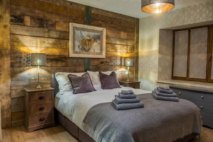 Stunning bedroom suite in a luxury Ski Chalet