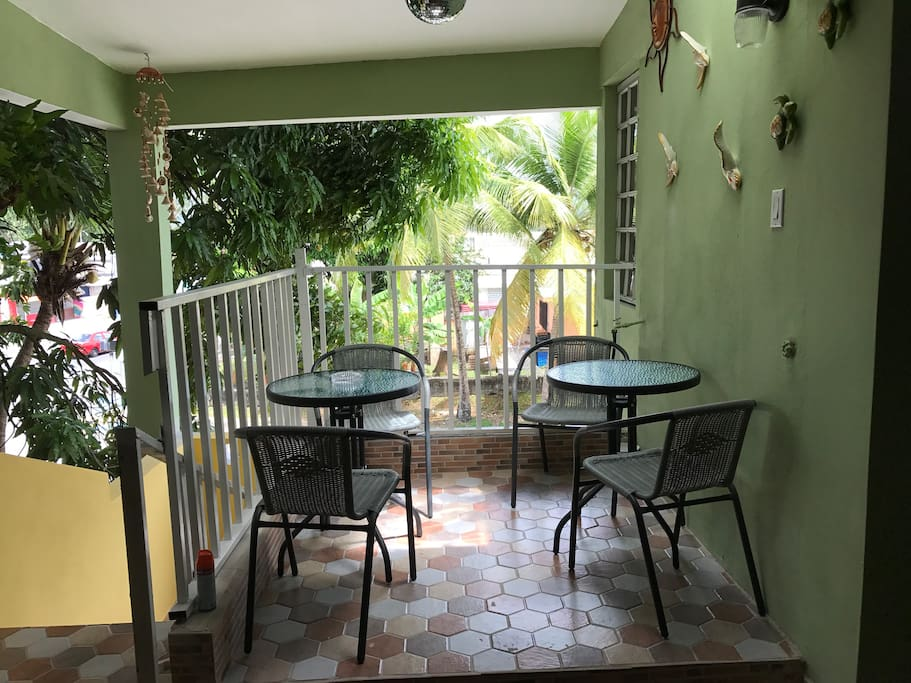 Sitting area exclusively for our guests.  You will enjoy the awesome breeze while have a cocktail or just hanging out.  Caribbean atmosphere and a must experience to tell your friends and family.