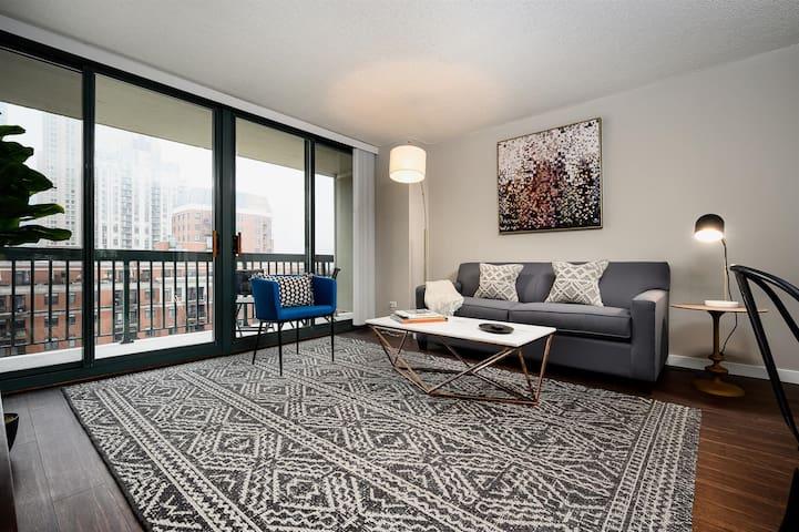 Kasa | Chicago | Prime 1BD/1BA River North Apartment