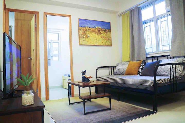 Cozy Apt in Mongkok, 3 Bedroom, 3 mins to MTR