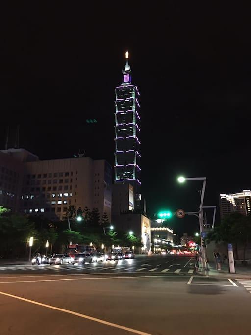 10 mins walking distance to Taipei 101