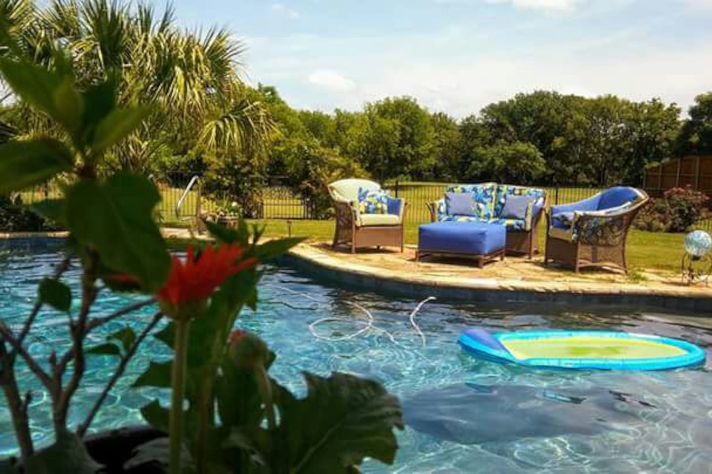 Enjoy a country, part city retreat with a resort-style pool set in large garden area.