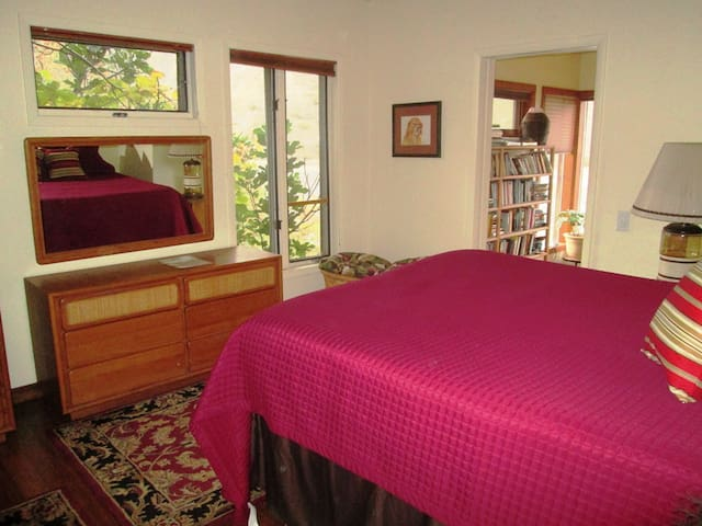 Nice sized room opens to the library; closes with a pocket door to privacy.