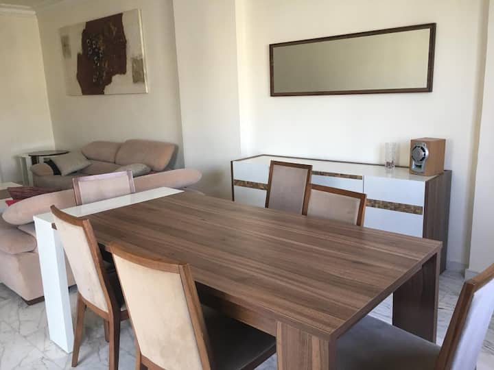 2 Bed rooms, with decent furnature, 6th flr.