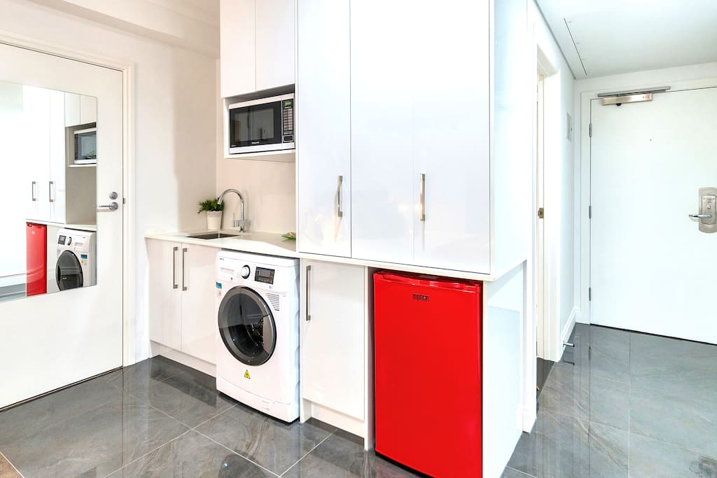 Cute kitchenette and in-room laundry facilities - perfect for longer stays