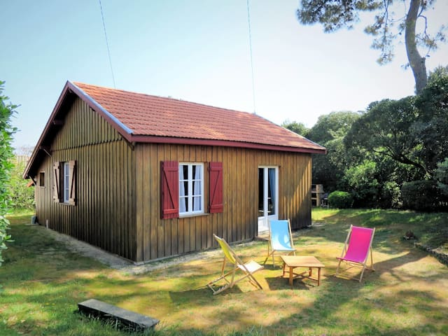 Charming wooden cottage in a beautiful peaceful setting