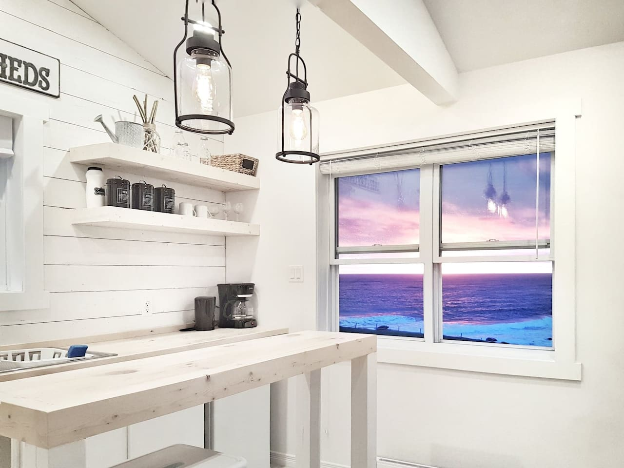 Beautiful sunsets from your window at The Fish Sheds