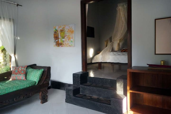 Studio: Private Living Room, Bedroom View