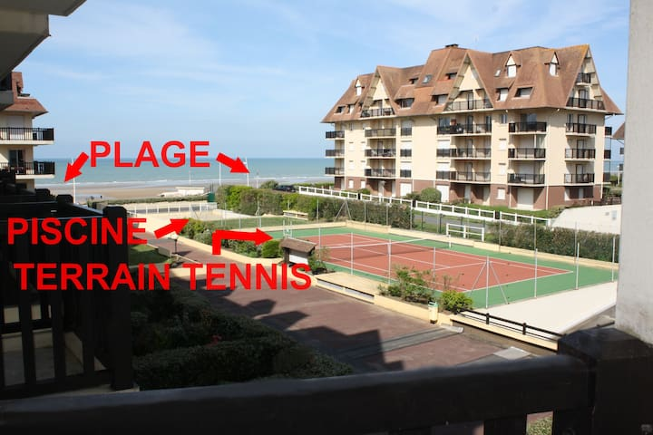 ACCES DIRECT à la plage, piscine, terrain 2 tennis - Cabourg - Condomínio