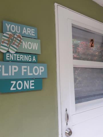 Wide entrance door welcome guests