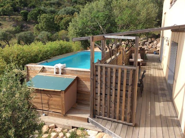 Appartement très calme, 6p, piscine, Porto-Vecchio - Zonza - Leilighet