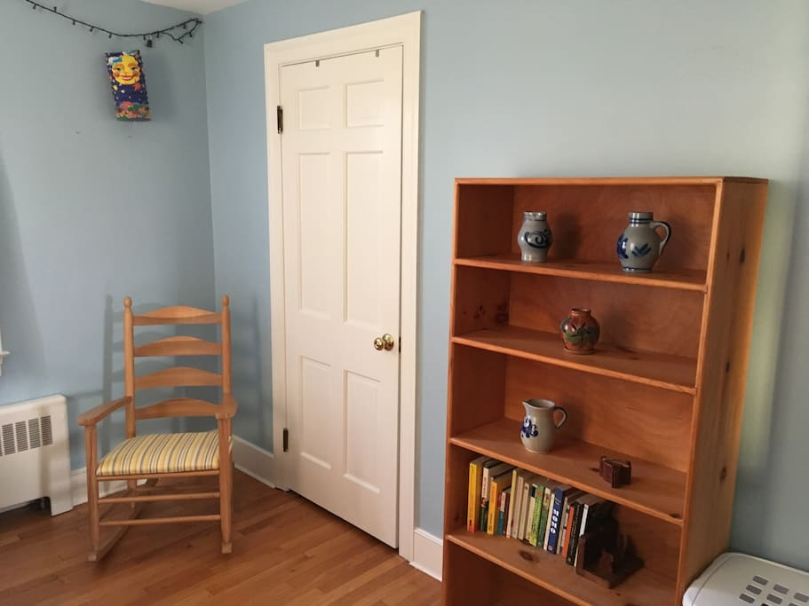 Comfy rocker and lots of closet space.