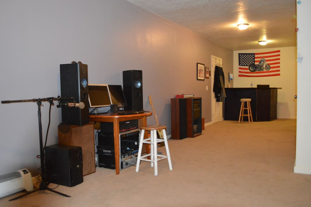 full finished basement with more  music vibes.:)