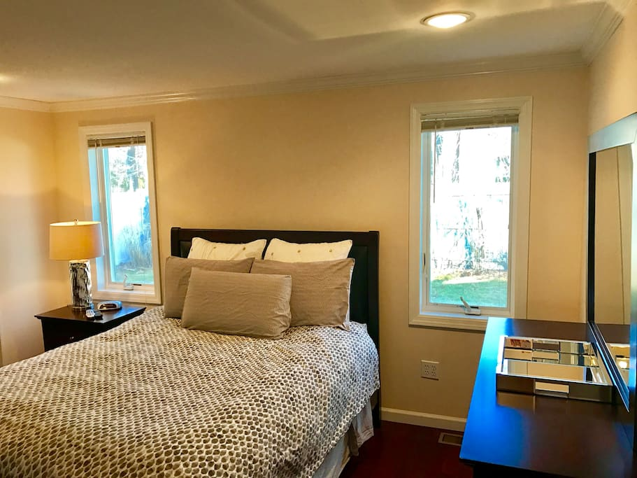 Master bedroom and bathroom suite, totally private!  (On your own wing of the house)