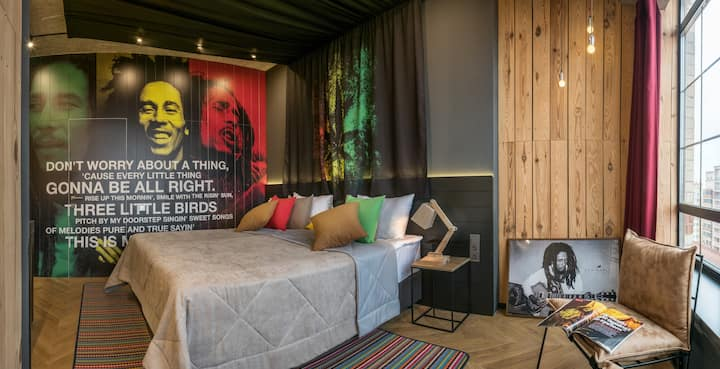 "Bob Marley Room in Design Hotel ""Rooms and Rumors"""