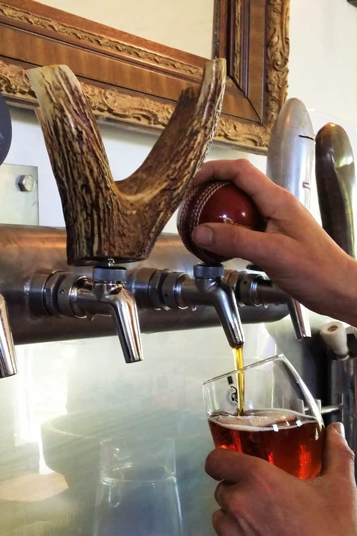 Local craft beers available at brewery