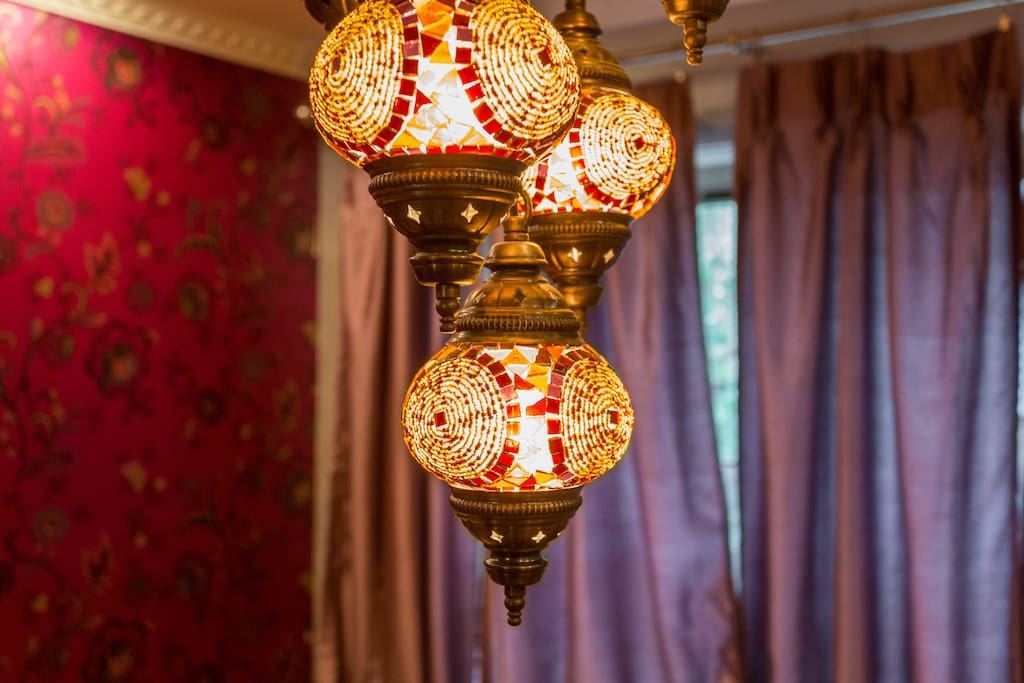 Chandelier that I carried on my lap home from Istanbul