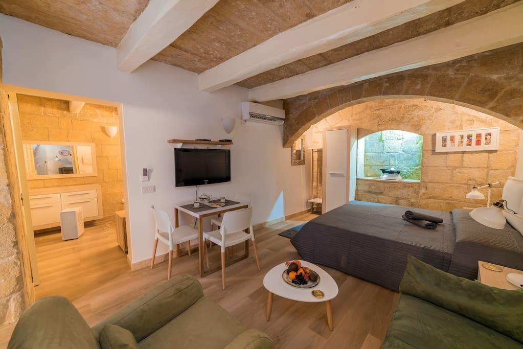 Lounge and sleeping area