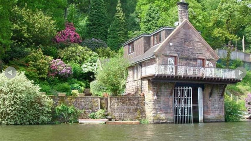 Truly Unique Victorian Boathouse on Rudyard Lake.