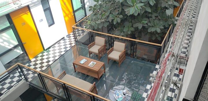 Loft independiente desinfectado y moderno