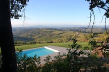 Another picture of the private pool and views