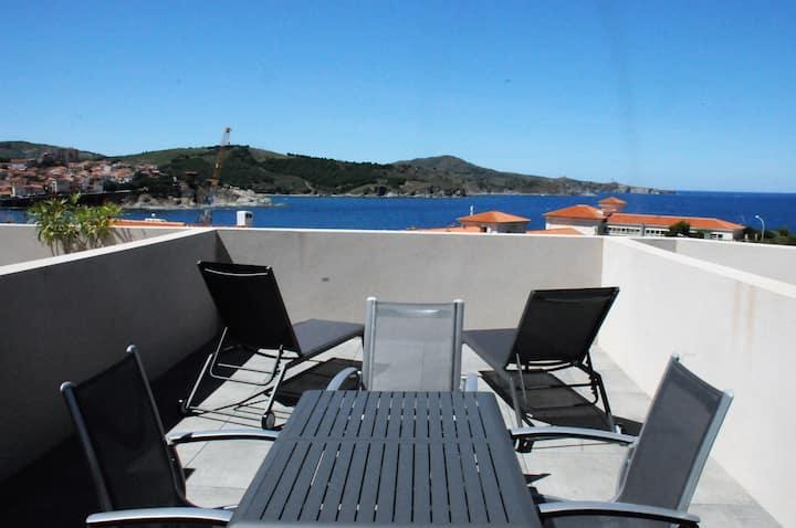 Banyuls-sur-Mer : appt grande terrasse vue sur mer