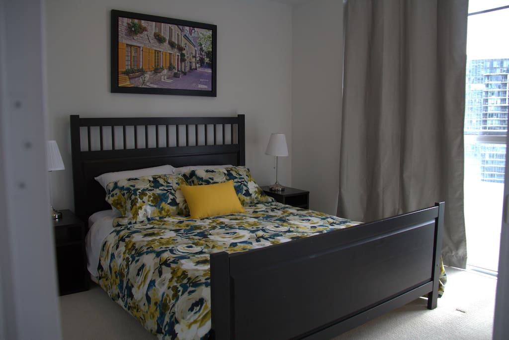 The Bedroom with  comfortable queen bed