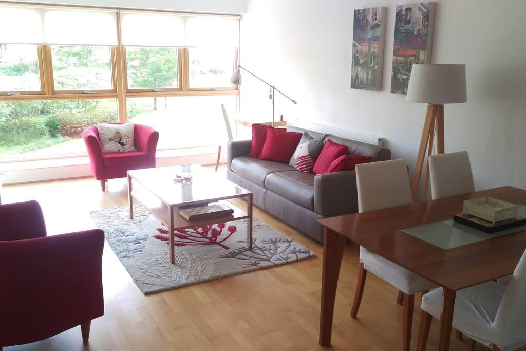 A bright living area