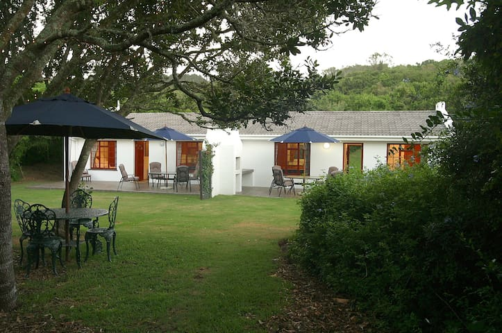Self-Catering chalets on a seaview nature reserve