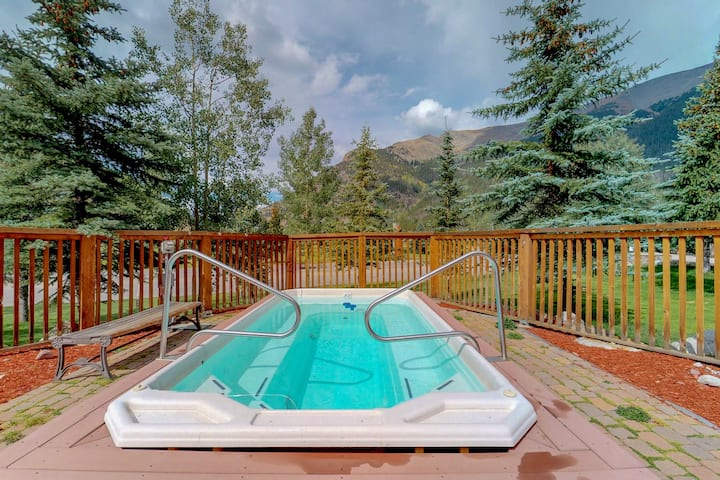 Walk to the lifts from this condo w/shared sauna & gym