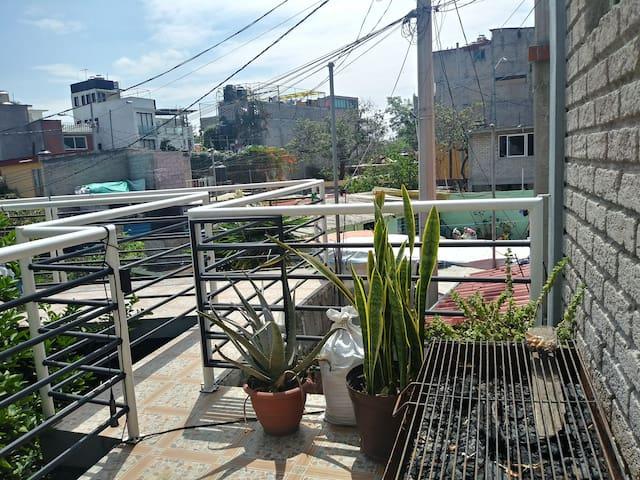 Room in traditional neighborhood of Coyoacán