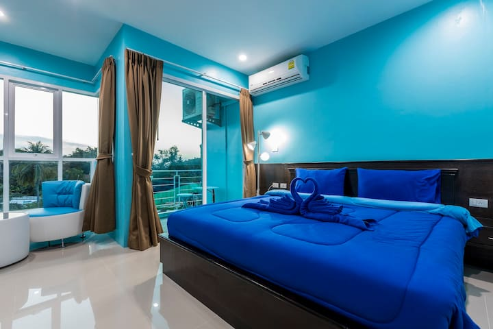 D deluxe double room with balcony and view