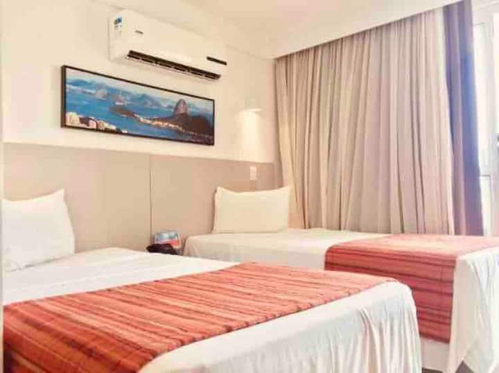 Suite quarto de hotel total privacidade e conforto