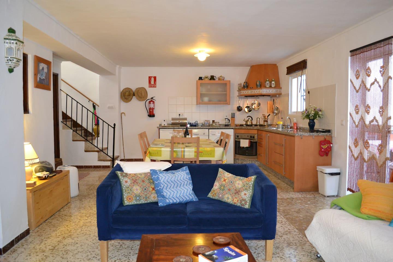 Bright, spacious, colourful apartment.