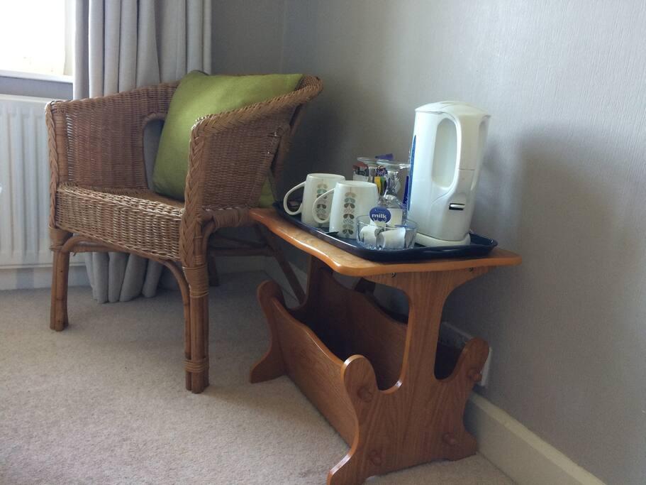 Tea & coffee making facilities in both rooms