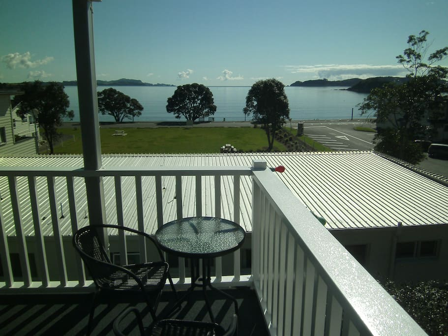 The beautiful Bay of Islands from the verandah