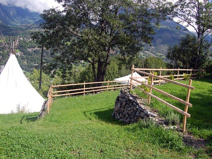 Camping auf dem Bio-Bauernhof Schmeli