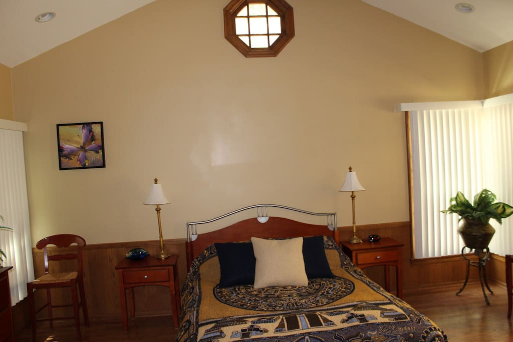 Master Bedroom with the high ceiling
