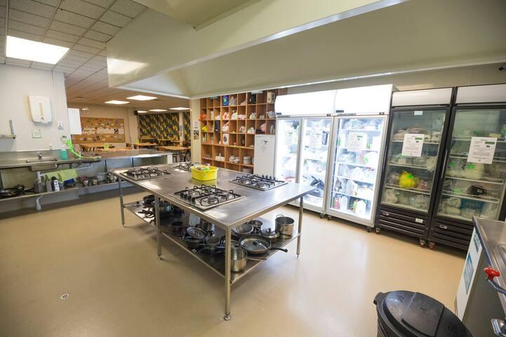 YHA Auckland International Kitchen Fridges