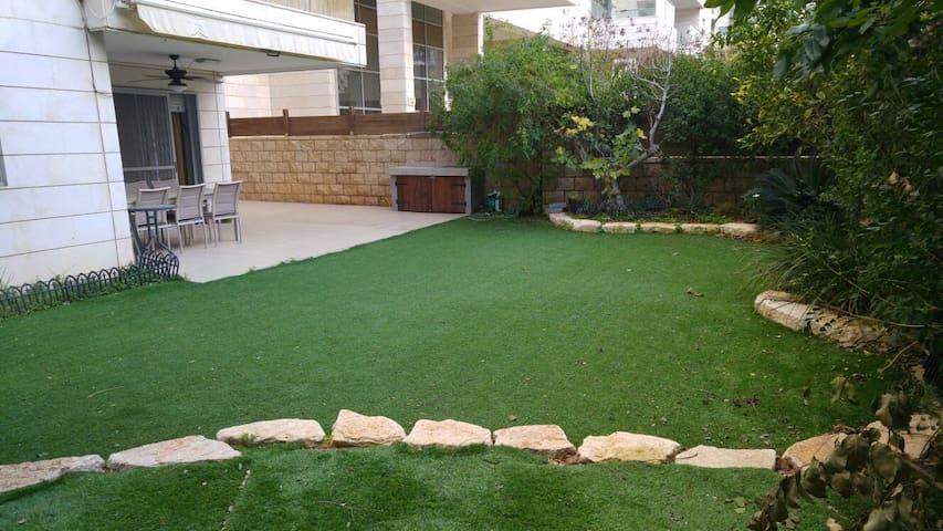 Pleasant 4BR Garden Apartment in Kfar Saba Yeruka