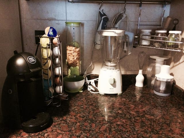 On top of all the appliances you have a capsule coffee machine!