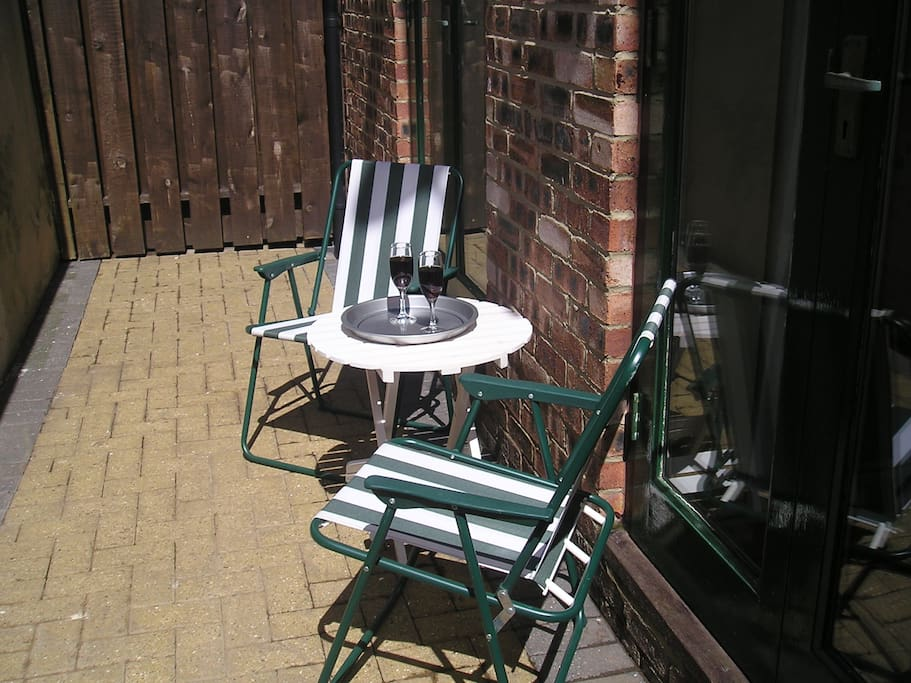 patio outside if you want to smoke you can do outside