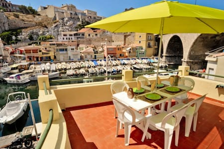 Dream terrace overlooking the Vallon des Auffes - Marseille - Wohnung
