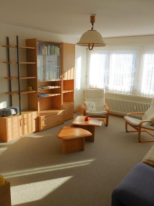 Wohnzimmer Sitzecke und Gestell