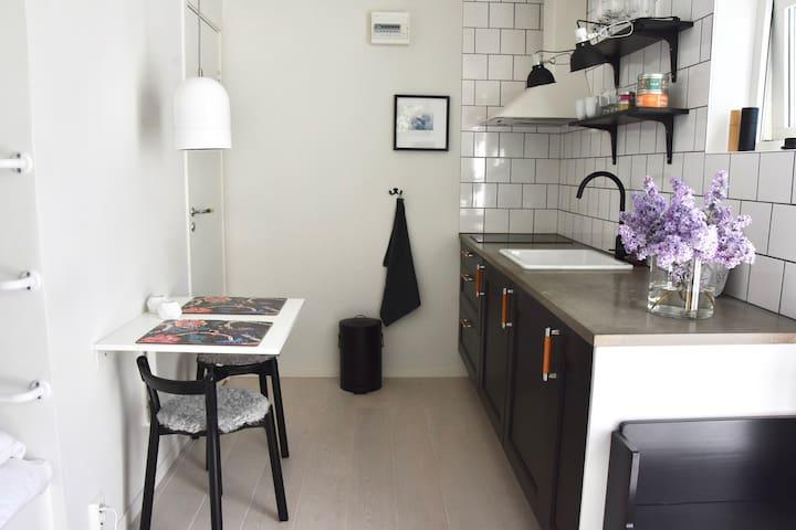 Lägenhet med egen uteplats i centrala Skanör