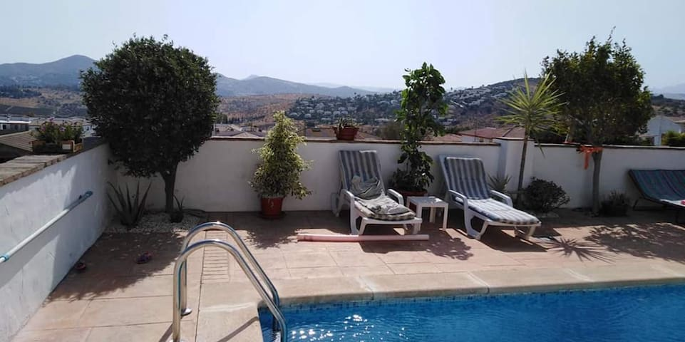Attractive Holiday Home Mariposa with Pool, Air Conditioning, Wi-Fi, Terrace & Mountain View; Parking Available, Pets Allowed