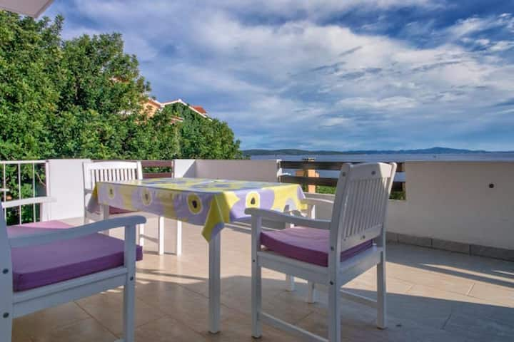 Apartments Marija Beach - Studio with Terrace and Sea View A1